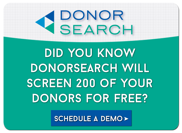 Schedule a demo of DonorSearch's products!