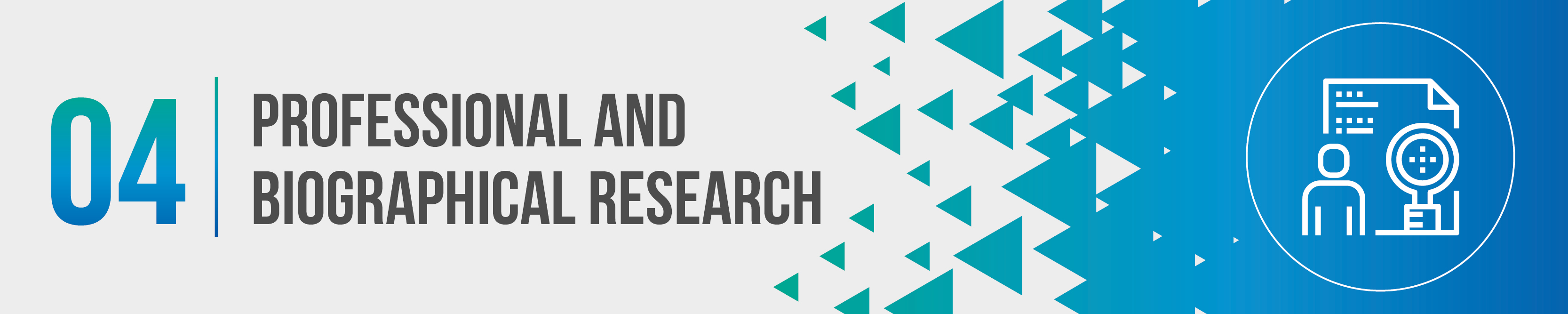 Professional and Biographical Research