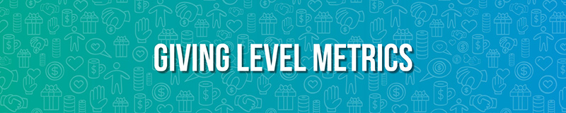 Giving Level Metrics are important and more detailed fundraising metrics to track.