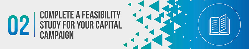 Complete a feasibility study for your capital campaign.