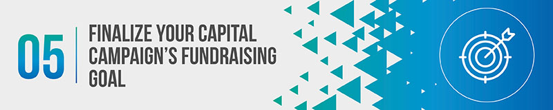 Finalize your capital campaign's fundraising goal.