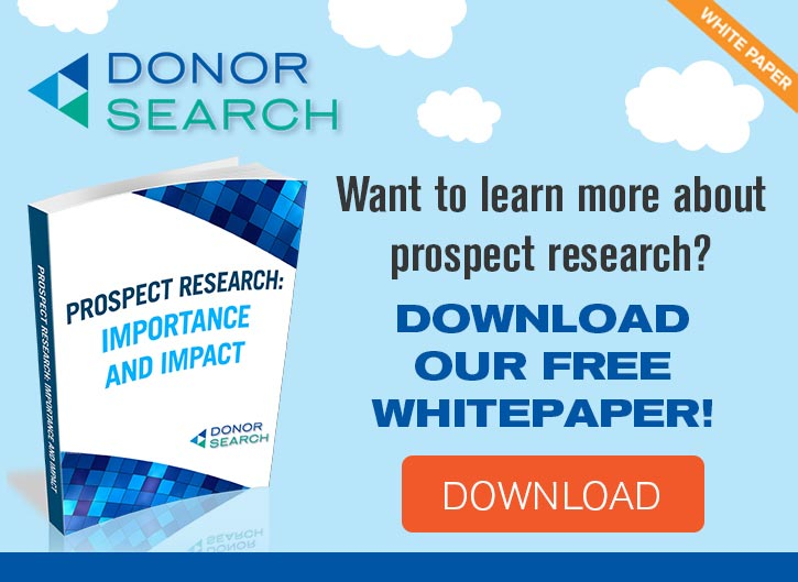 Learn more about how prospect research can help you make the most of your nonprofit crowdfunding campaign.