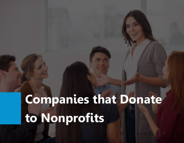 Take a look at the companies that donate to nonprofits.