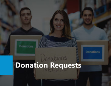 Learn about donation requests.