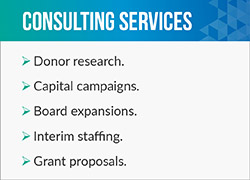 Donorly offers research-based fundraising consulting services.