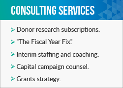 Explore Donorly's fundraising consulting firm services.