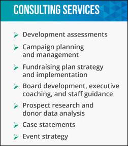 Focus Fundraising's vast suite of consulting services make it a top fundraising consulting firm.