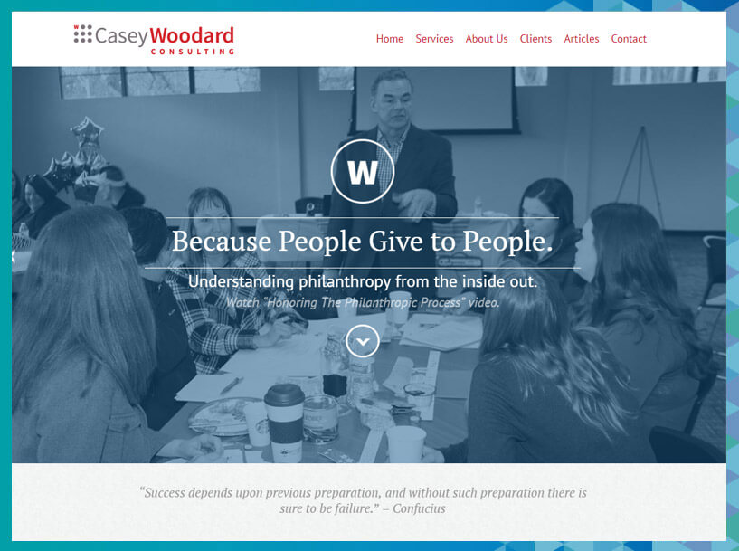 For a fundraising consultant with experience in sustainable giving campaigns, check out Casey Woodard Consulting.