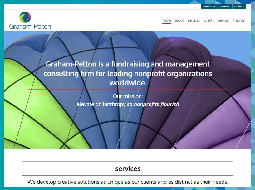 Graham-Pelton fundraising consultants focus on organizational development as well as campaign management.