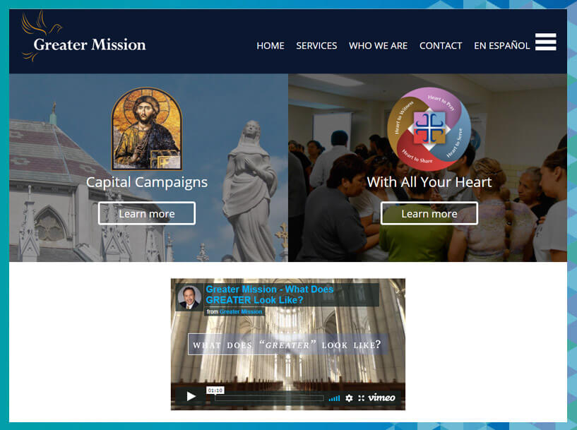 Greater Mission brings the Catholic community together through fundraising consulting and products.