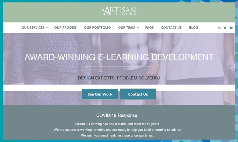 Visit Artisan E-Learning's site today to learn more about their e-learning consulting services.