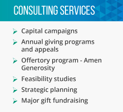 Greater Mission is a top nonprofit consulting firm that offers these services to the faith-based sector.
