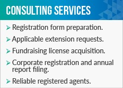 Labyrinth's fundraising consulting firm offers these helpful charity registration services.