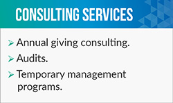 Brian Lacy offers awesome fundraising consultant services, such as audits.