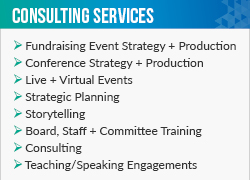 Here are some of this fundraising consultant, Swim strategies, top services.