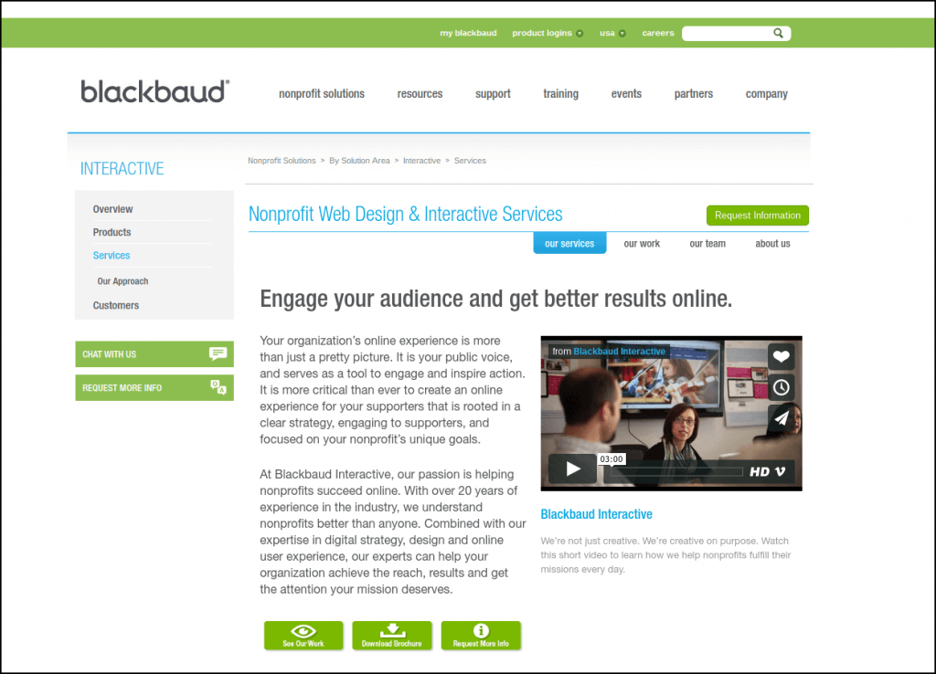 Try out Blackbaud's nonprofit website design services to build (or enhance) your site.