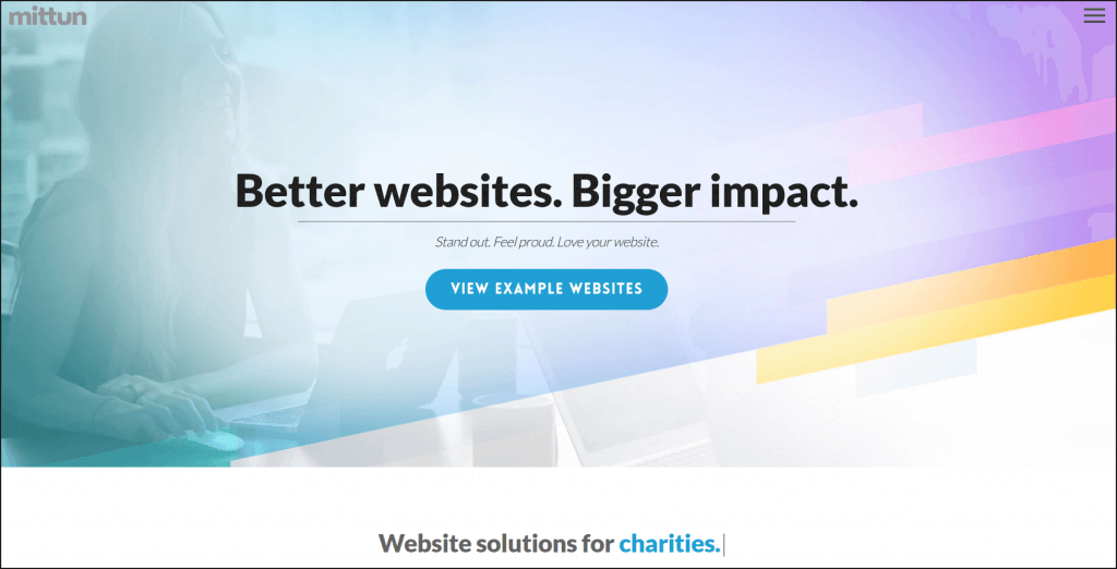 Contact Mittun to learn more about their nonprofit website design services.