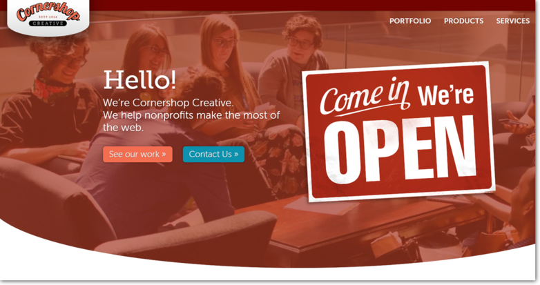 Cornershop Creative is a leading nonprofit web design firm for all types of organizations.