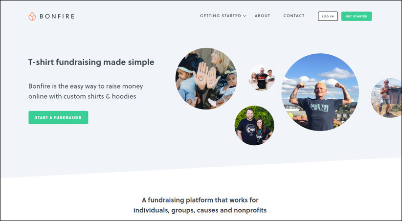 Bonfire is a great t-shirt manufacturer to choose as a crowdfunding platform because it has a built-in fundraising feature.