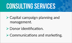 Jeffrey Bryne offers fundraising consulting services such as donor identification.