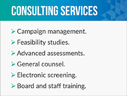Jerry F. Smith provides a plethora of fundraising consultant services such as campaign management.