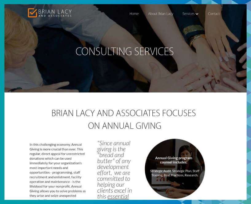 Check out more of Brian Lacy's consulting services on the website.