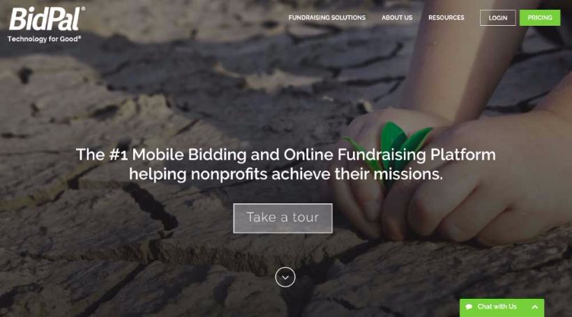 BidPal's nonprofit software is a useful online giving tool.