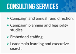 Averill Fundraising Solutions offers a wide variety of services, including leadership learning and executive search.