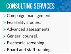 Steve Jankiewicz is a fundraising consultant that provides a plethora of fundraising consultant services such as campaign management.