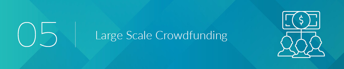 Large scale nonprofit crowdfunding is great for organizations to raise a lot of money, quickly.