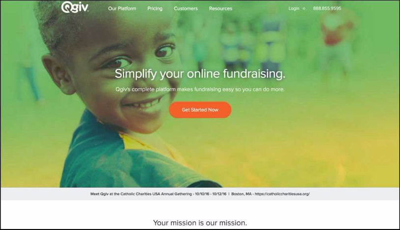 Use Qgiv's online giving tool to raise more.
