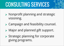 The fundraising consultants at the Alford Group help nonprofits with strategic planning and campaign feasibility.