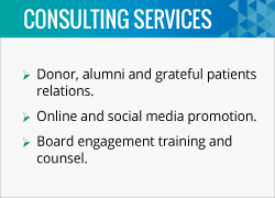 Bond is a fundraising consultant that offers many services to nonprofits.