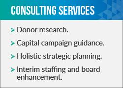 Explore this fundraising consultant's services.