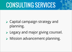 Tony is a fundraising consultant that provides capital campaign and major giving counsel to churches.