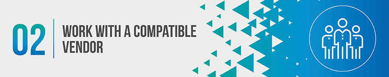 Work with a compatible nonprofit CRM software vendor.