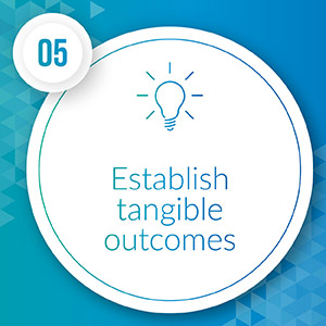 Establish tangible outcomes for major gift donors to look to.
