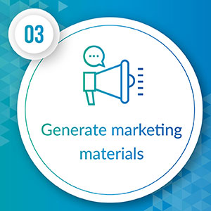 Generate marketing materials for your planned gifts program.