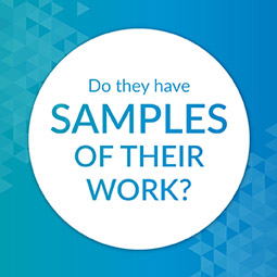Ask for samples of donor prospect research work.