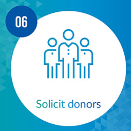 Solicit your prospects to turn them into donors.