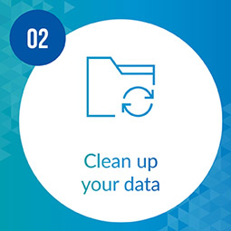 Clean up your data to prepare for prospect research.