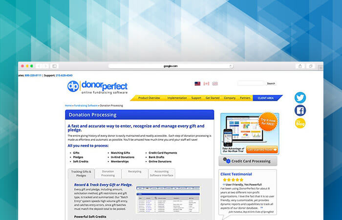 Check out DonorPerfect's fundraising software.