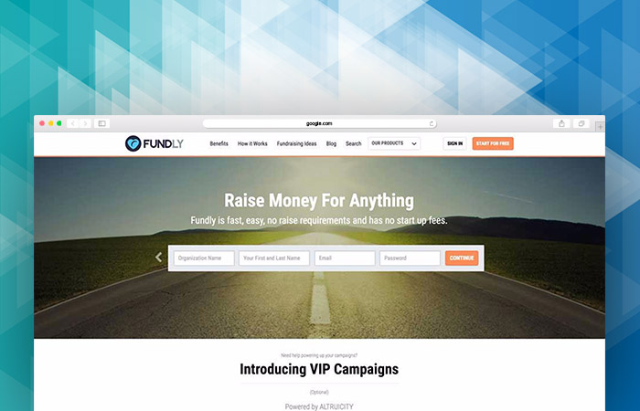 Take a look at Fundly's fundraising platform for nonprofits.