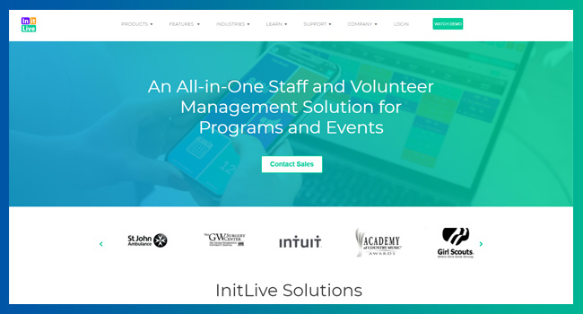 Check out InitLive's event fundraising software for volunteer and event staff management.