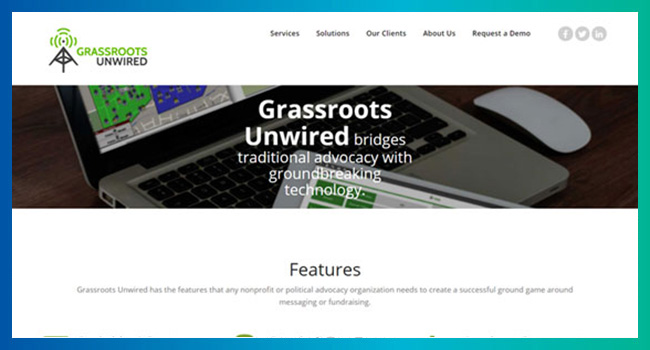 Visit the Grassroots Unwired website to learn more about their event fundraising software.