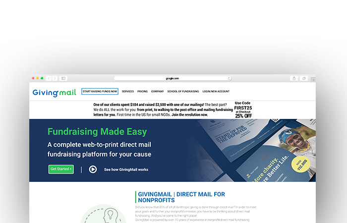 GivingMail is one of our favorite charity auction websites.