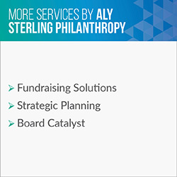Consider these additional services Aly Sterling Philanthropy provides in addition to executive search.