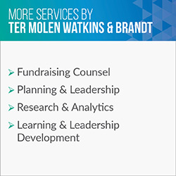 Consider these additional services Ter Molen Watkins & Brandt provides in addition to executive search.