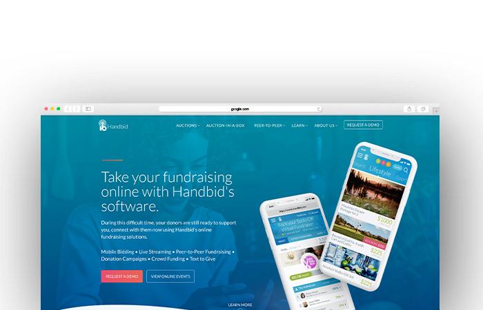 Handbid offers a best-in-class charity auction website.