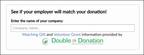 Double the Donation offers nonprofits an easy-to-install matching gift plugin.